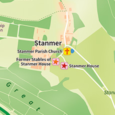 The village of Stanmer shown at the edge of the map.