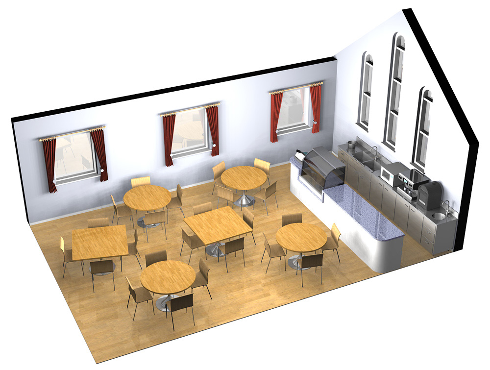 Cafe Visualisation - An illustration to visualise the layout of a small cafe