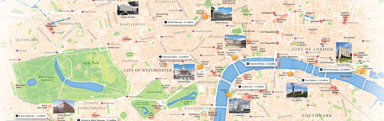 London Visitor Attractions Map