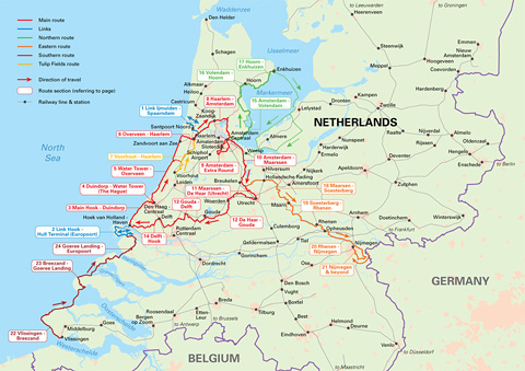 Cycling in the Netherlands Map