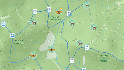 New Forest Visitor Map Panel